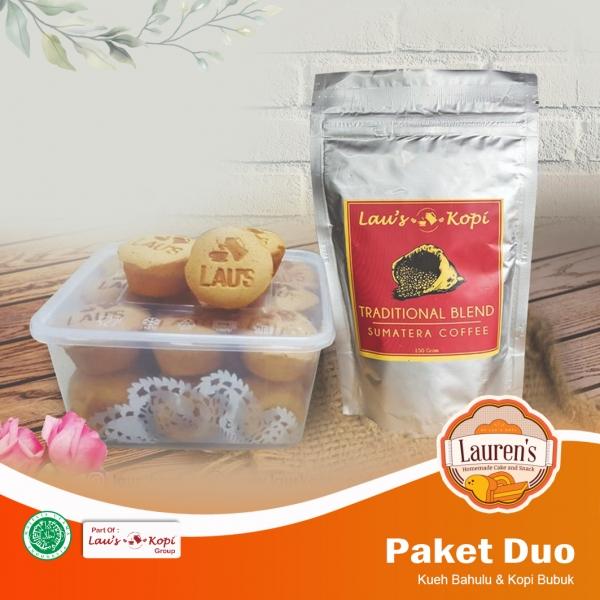 Paket Duo (Kueh bahulu & Kopi Bubuk)